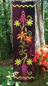 Midsummer Meadow Wool Applique Runner