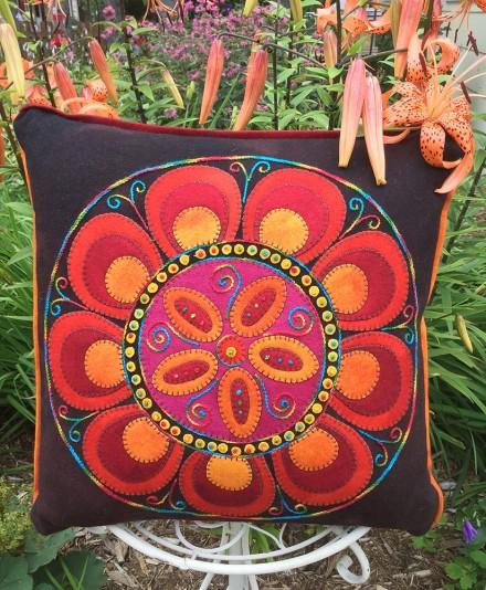 Floral Fire Pillow