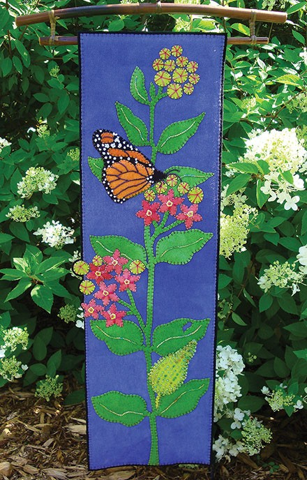 Monarch & Milkweed Wall Hanging
