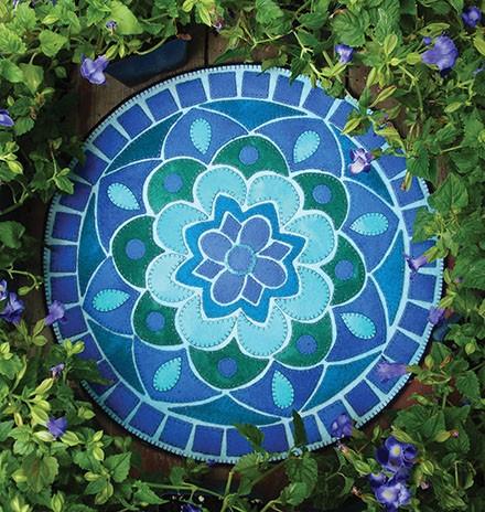 Sea Glass Mosaic Candle Mat