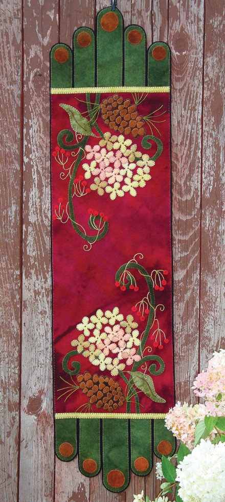 Winter Bouquet Wool Applique Runner