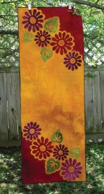 Pop Art Posies Wool Applique Table Runner
