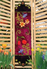Spring Fling Wool Applique Runner