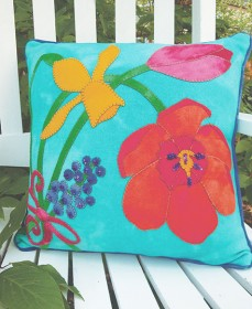 Think Spring Bouquet Pillow