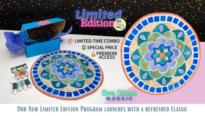 Our new Limited Edition Program starts with Sea Glass Mosaic