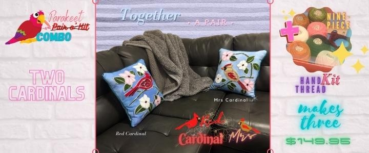 A pair of cardinals is on sale