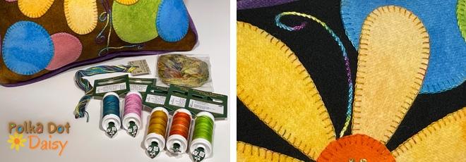 Polka Dot Daisy Hand Thread Kit