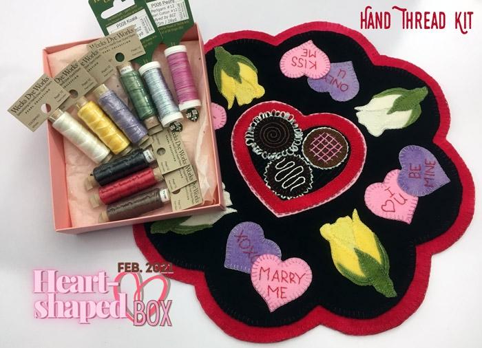 Our Heart-Shaped Box Hand Thread Kit