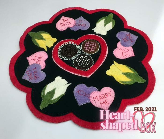 Our Heart-Shaped Box Custom Shades Pattern