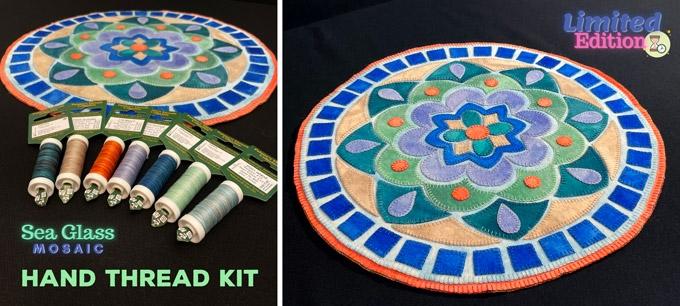Sea Glass Mosaic Hand Thread Kit