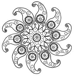 Monochrome image of Mystery Pinwheel Project