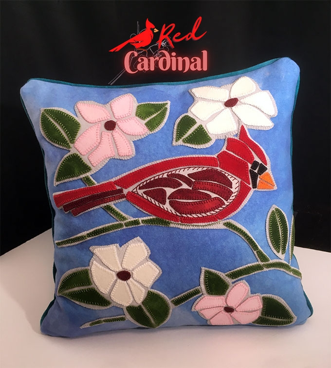 Our Red Cardinal Limited Edition makes a great pillow