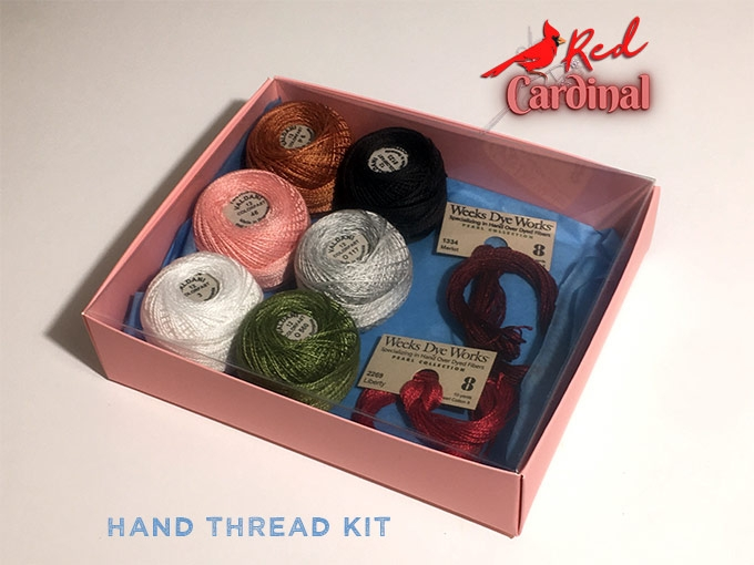 Our Red Cardinal Hand Thread Kit
