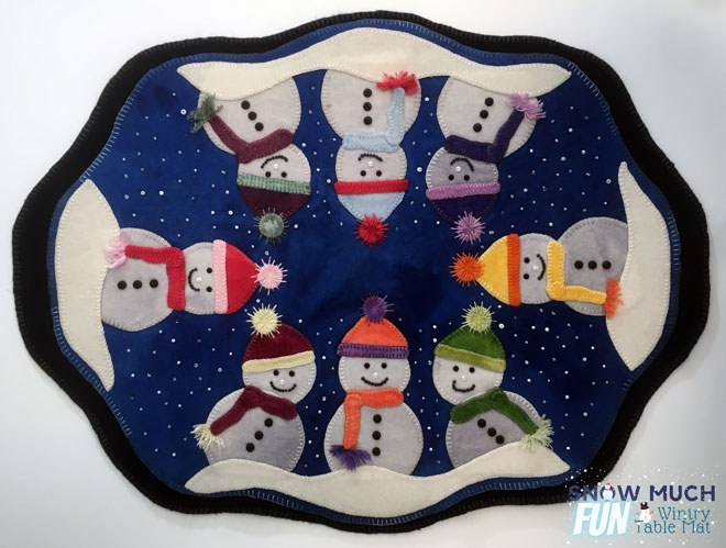 WoolyLady's Snow Much Fun Wintry Table Mat