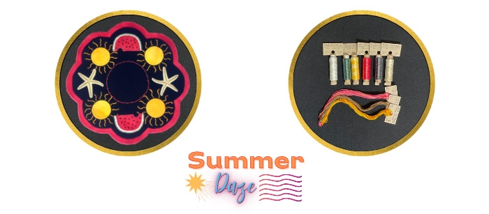 Summer Daze Expanded Wool Kit and Thread Kit