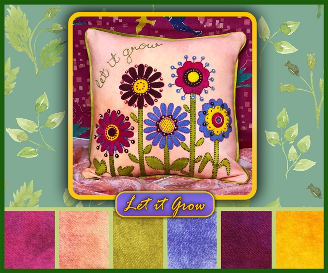 Image montage of Let It Grow Limited Edition Pillow by WoolyLady