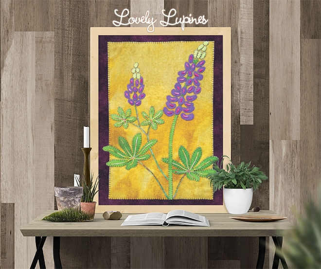 Lovely Lupines Block